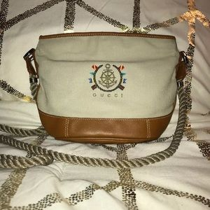 Authentic 1980's Gucci Crossbody Bag